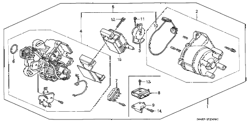 Honda online store : 1996 accord distributor (hitachi) parts