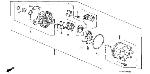 Honda online store : 1997 accord distributor (hitachi) (v6