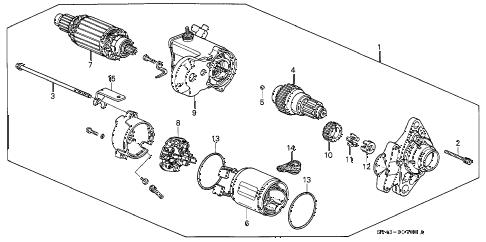 Honda online store : 1997 accord starter motor (denso) parts