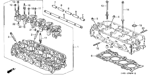 Honda online store : 1996 accord cylinder head (1) parts