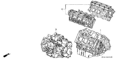 Honda online store : 1995 accord engine assy