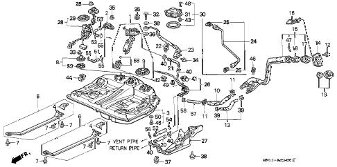 Honda online store : 1994 accord fuel tank parts