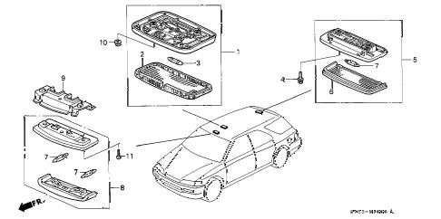 Honda online store : 1996 accord interior light parts