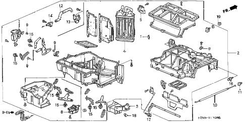 Honda online store : 1994 accord heater unit parts