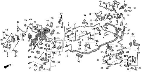 Honda online store : 1996 odyssey brake line ('95-'97) parts