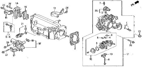 Honda online store : 1995 odyssey throttle body (2.2l) parts
