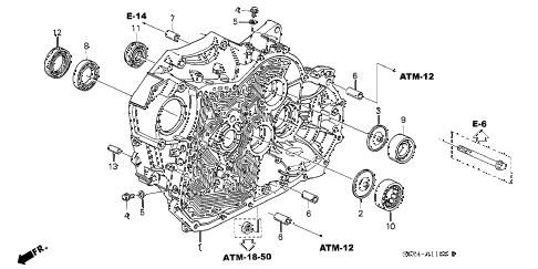 Honda online store : 2002 odyssey at torque converter