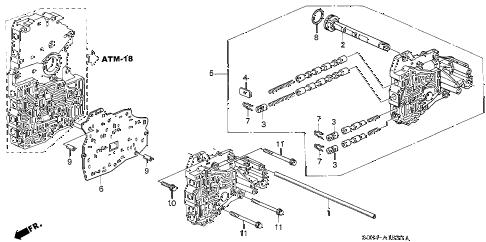 Honda online store : 2003 odyssey at servo body (5at) parts