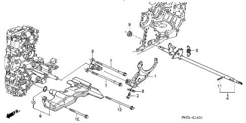 Honda online store : 2003 odyssey at shift fork (5at) parts