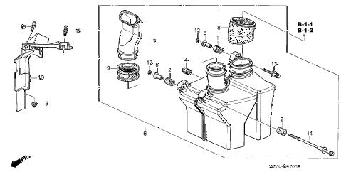 Honda online store : 2000 odyssey resonator chamber (-'01