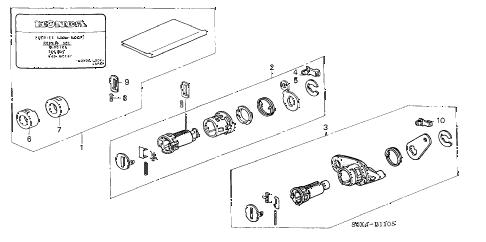 Honda online store : 2001 odyssey key cylinder kit parts