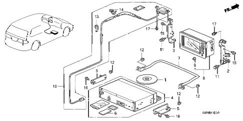 Honda online store : 2002 odyssey navigation system parts