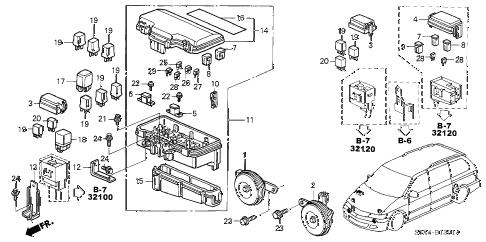 Honda online store : 2004 odyssey control unit (engine