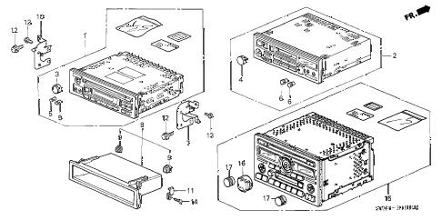 Honda online store : 2002 odyssey auto radio parts