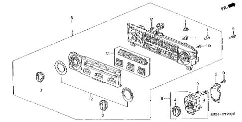 Honda online store : 2003 odyssey heater control parts