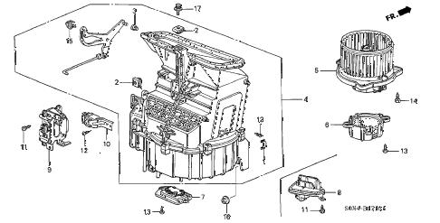 Honda online store : 2003 odyssey heater blower parts