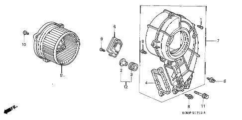 Honda online store : 2003 odyssey rear heater blower parts