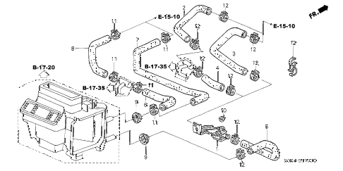 Honda online store : 2003 odyssey water valve parts