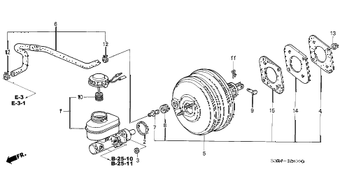 Honda online store : 2003 odyssey brake master cylinder