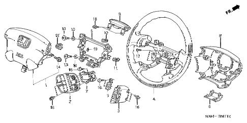 Honda online store : 2003 odyssey steering wheel (srs