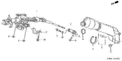 Honda online store : 1999 odyssey steering column parts