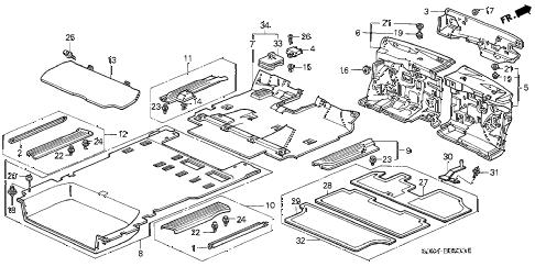 Honda online store : 2002 odyssey floor mat parts
