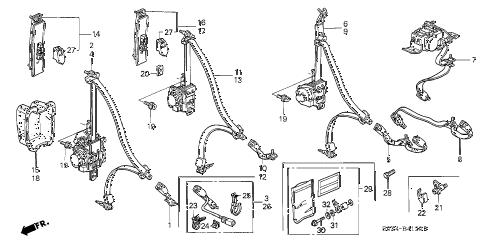 Honda online store : 2003 odyssey seat belts parts