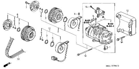 Honda online store : 2000 odyssey a/c compressor parts