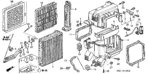 Honda online store : 2003 odyssey a/c cooling unit parts