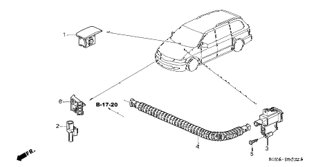 Honda online store : 2003 odyssey a/c sensor parts