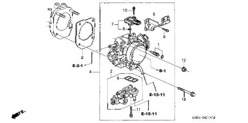 Honda online store : 2002 odyssey throttle body ('02-) parts