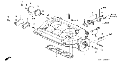 Honda online store : 2000 odyssey intake manifold (-'01) parts