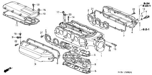 Honda online store : 2003 odyssey intake manifold ('02-) parts