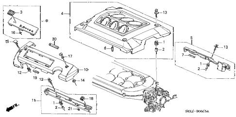 Honda online store : 2000 odyssey intake manifold cover