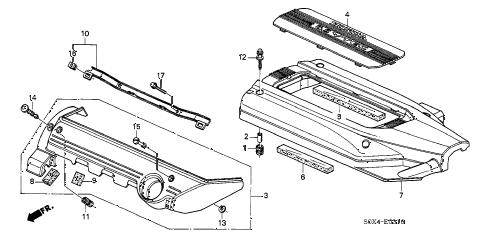 Honda online store : 2003 odyssey intake manifold cover