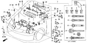 Honda online store : 1999 odyssey engine wire harness parts