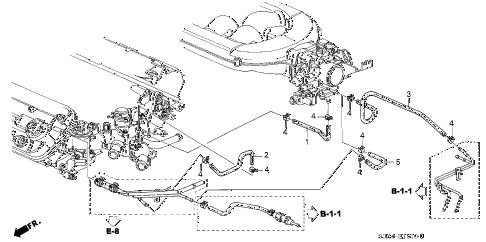 Honda online store : 2000 odyssey water hose (-'01) parts