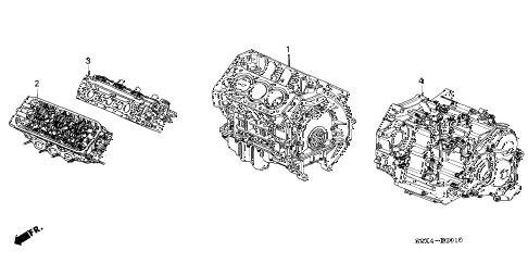 Honda online store : 2000 odyssey engine assy