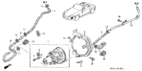 Honda online store : 2003 s2000 air pump parts