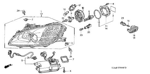 Honda online store : 2002 s2000 headlight (1) parts