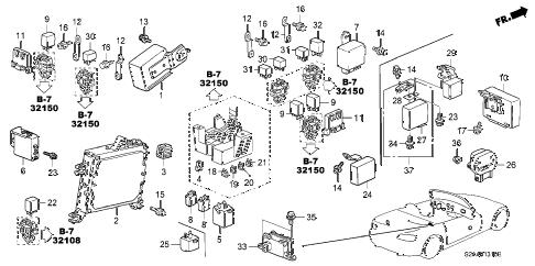 Honda online store : 2002 s2000 control unit (cabin) parts
