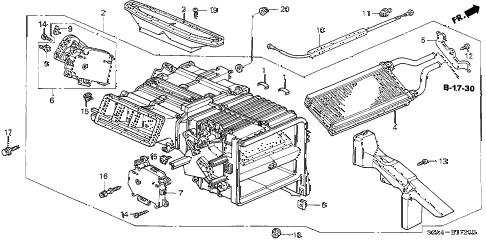 Honda online store : 2006 s2000 heater unit parts