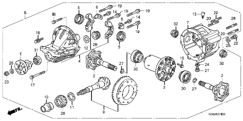 Honda online store : 2000 s2000 rear differential parts