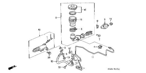 Honda online store : 2005 s2000 clutch master cylinder