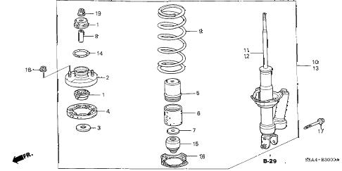 Honda online store : 2003 s2000 rear shock absorber parts