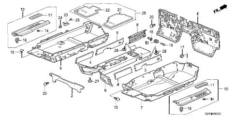 Honda online store : 2006 s2000 floor mat parts