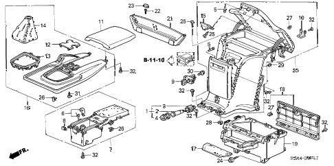 Honda online store : 2006 s2000 console ('04-'06) parts