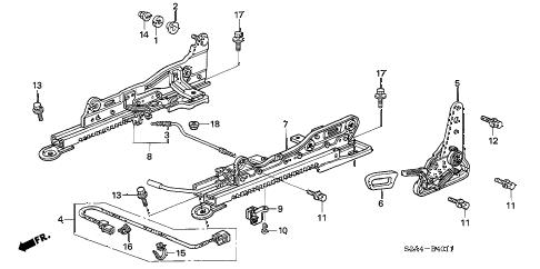 Honda online store : 2006 s2000 seat components (l.) ('06