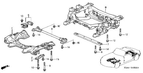 Honda online store : 2005 s2000 cross beam parts