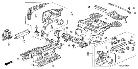 Honda online store : 2001 s2000 inner panel parts